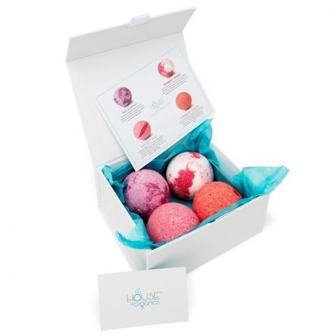 Organic Bath Bomb Set The Berry Collection